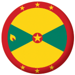 Grenada Country Flag 25mm Flat Back